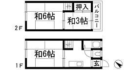[テラスハウス] 兵庫県川西市霞ケ丘1丁目 の賃貸【兵庫県 / 川西市】の間取り