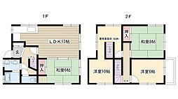[一戸建] 愛知県名古屋市名東区上社5丁目 の賃貸【/】の間取り