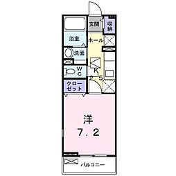 埼玉県春日部市米島の賃貸アパートの間取り