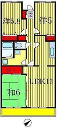 イーストパーク胡録台[4階]の間取り