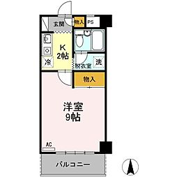 香川県高松市東山崎町の賃貸アパートの間取り