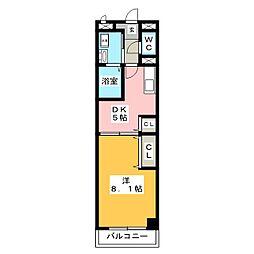 ポラールシュテルン[4階]の間取り