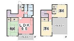 [タウンハウス] 兵庫県神戸市西区北別府1丁目 の賃貸【/】の間取り