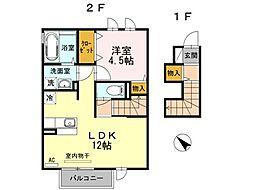 ロジュマンシュシュB棟[2階]の間取り