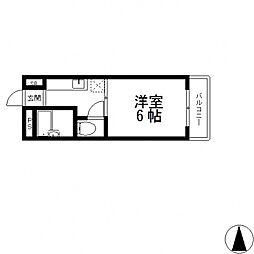 マンションサンライズ[206号室号室]の間取り