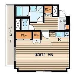 JR仙山線 東北福祉大前駅 徒歩18分の賃貸マンション 5階ワンルームの間取り