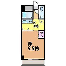 愛媛県松山市和泉北3丁目の賃貸マンションの間取り
