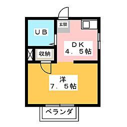 ブランチ昭和[1階]の間取り