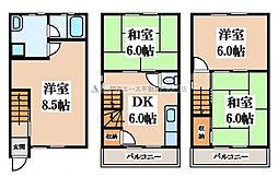 [一戸建] 大阪府東大阪市若江南町4丁目 の賃貸【/】の間取り