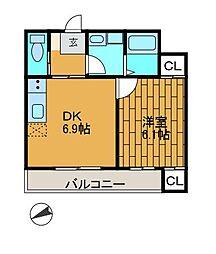 エッチエス2[2階]の間取り