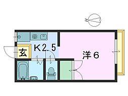 岩村ハイツ[102号室]の間取り