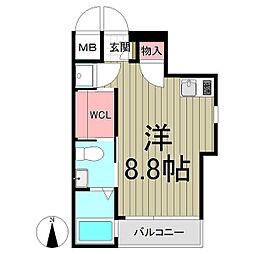 Eau-Rouge鎌倉[301号室]の間取り