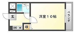 朝日が丘尾田ハイツ[4階]の間取り