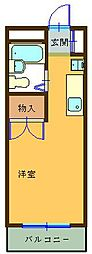 瀬川ビル[105号室]の間取り