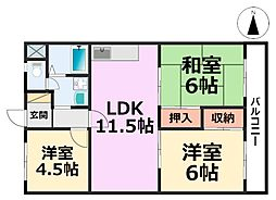 シティハイツ武庫之荘[1階]の間取り