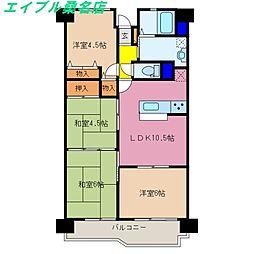 グランドメゾン桑名壱番館[9階]の間取り