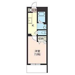 積水ハウスシャーメゾン常盤平1丁目マンション201号室[2階]の間取り