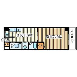 アニマート姫島[6階]の間取り