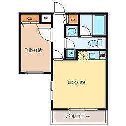 フォレシティ桜新町α[303号室]の間取り