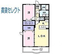 千葉県松戸市秋山3丁目の賃貸マンションの間取り