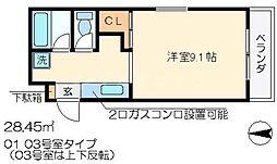 CORE-1(コアワン)[2階]の間取り