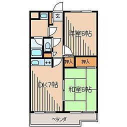 ステージ渋谷[4階]の間取り