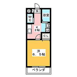 グリンヒル福岡[3階]の間取り