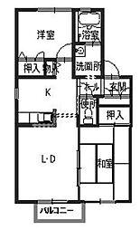 ディアス小松[2階]の間取り