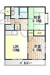 サンハイム柿生II[305号室]の間取り