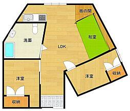 [テラスハウス] 兵庫県宝塚市山本西1丁目 の賃貸【/】の間取り
