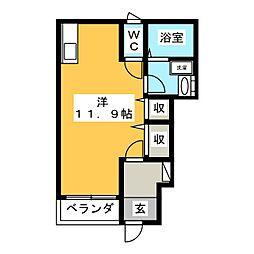 エヴァージュB[1階]の間取り
