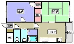 ピュアハイム牧野[2階]の間取り