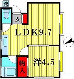 コーポ桜井[202号室]の間取り