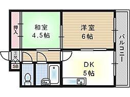 ブリリアンマンション[2階]の間取り