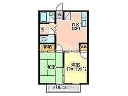 岩田ハイツ2[204号室号室]の間取り