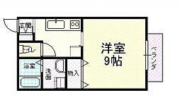 プラシードU[2階]の間取り