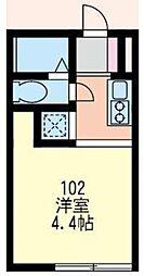 神奈川県横浜市鶴見区佃野町の賃貸アパートの間取り