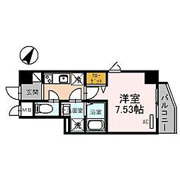 埼玉県さいたま市浦和区東高砂町の賃貸マンションの間取り
