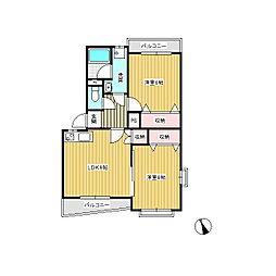 ガーデンハイム樗3番館[4階]の間取り