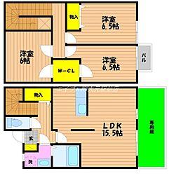 [テラスハウス] 岡山県岡山市南区西市 の賃貸【/】の間取り
