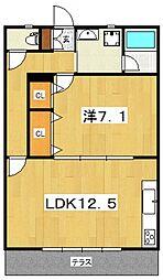 カーサアクア[102号室号室]の間取り