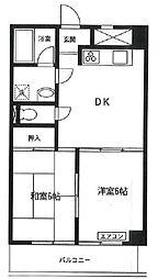 多摩リバビューマンション bt[4階]の間取り