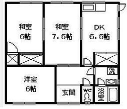 [一戸建] 愛媛県松山市南梅本町 の賃貸【愛媛県 / 松山市】の間取り