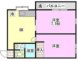 千代田アネックスビラ[2階]の間取り