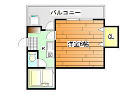 ベルメゾン一須賀3号館[2階]の間取り