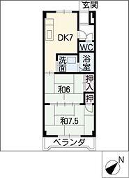 アクセスコートIII[2階]の間取り