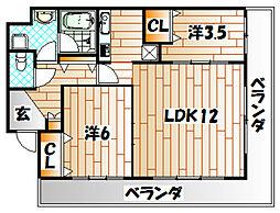 トーマスタワー[22階]の間取り