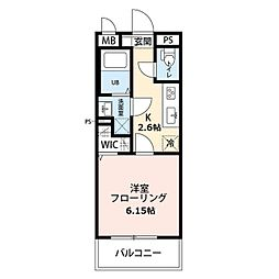 リコルテ sanburaitonesu 2階1Kの間取り