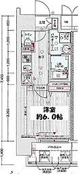 大阪府大阪市北区中津7丁目の賃貸マンションの間取り