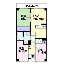 コム・ロワイヤル姫路幸町[3階]の間取り